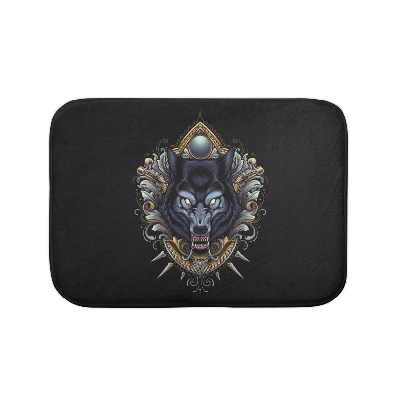 Wolf - Eternal Hunter Home Bath Mat by angoes25's Artist Shop