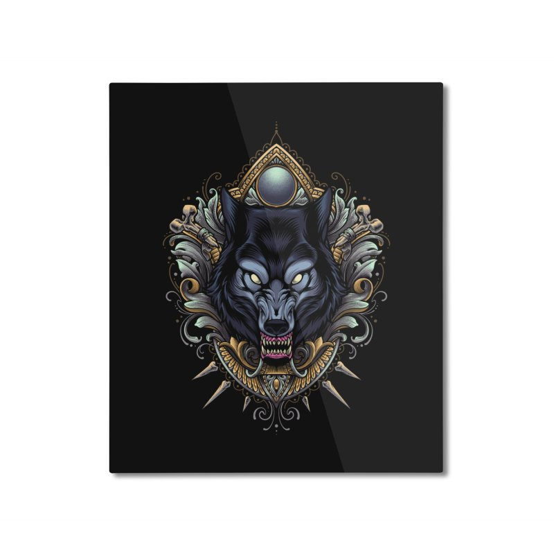 Wolf - Eternal Hunter Home Mounted Aluminum Print by angoes25's Artist Shop