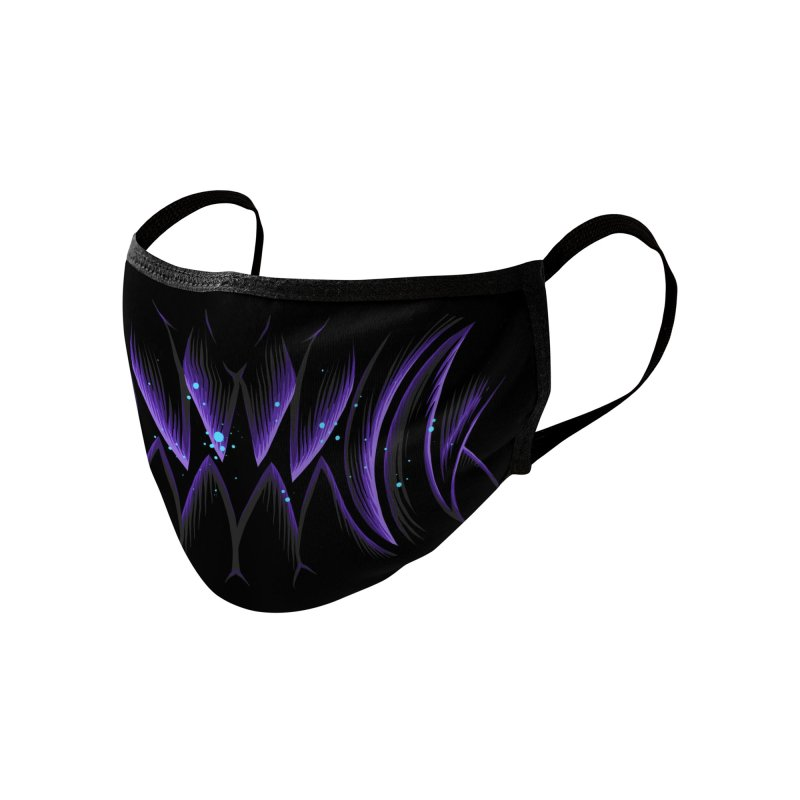 Poisonus Purple Fangs Accessories Face Mask by angoes25's Artist Shop