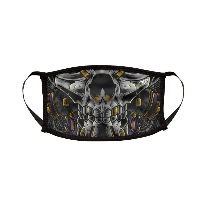 Cyber Skull 4.0 Accessories Face Mask by angoes25's Artist Shop