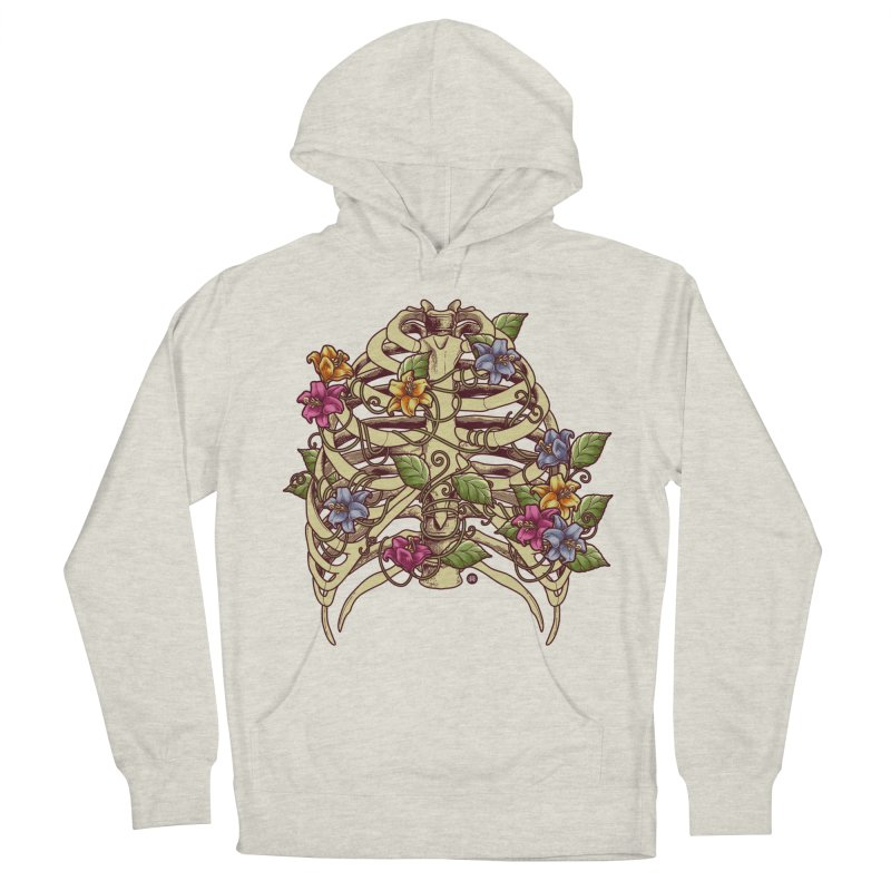 Rib Blossom Men's French Terry Pullover Hoody by angoes25's Artist Shop