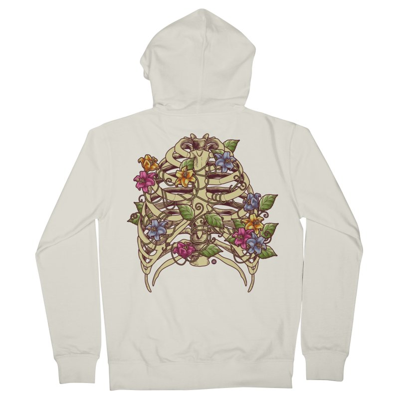 Rib Blossom Men's French Terry Zip-Up Hoody by angoes25's Artist Shop