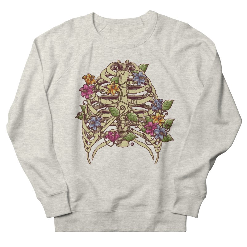 Rib Blossom Women's French Terry Sweatshirt by angoes25's Artist Shop