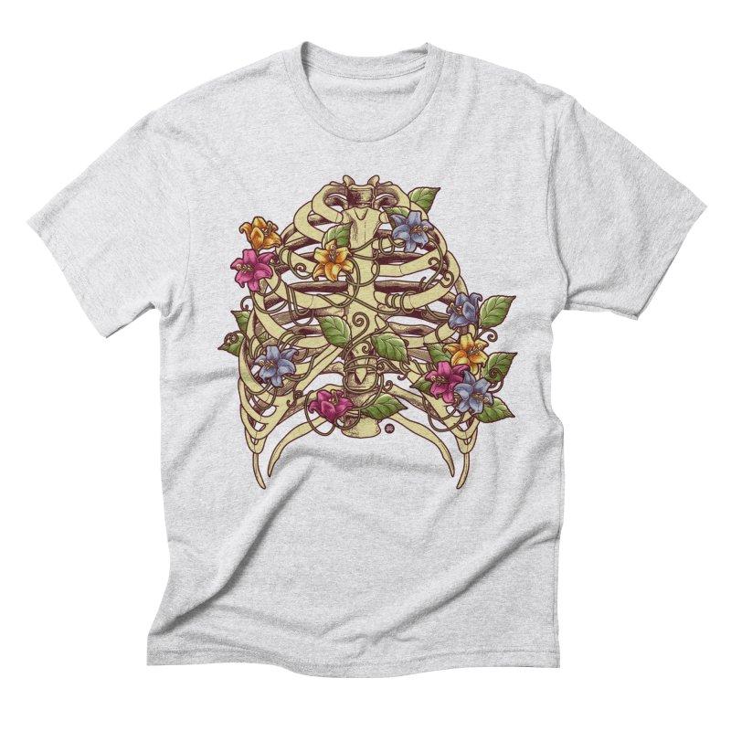 Rib Blossom Men's Triblend T-shirt by angoes25's Artist Shop