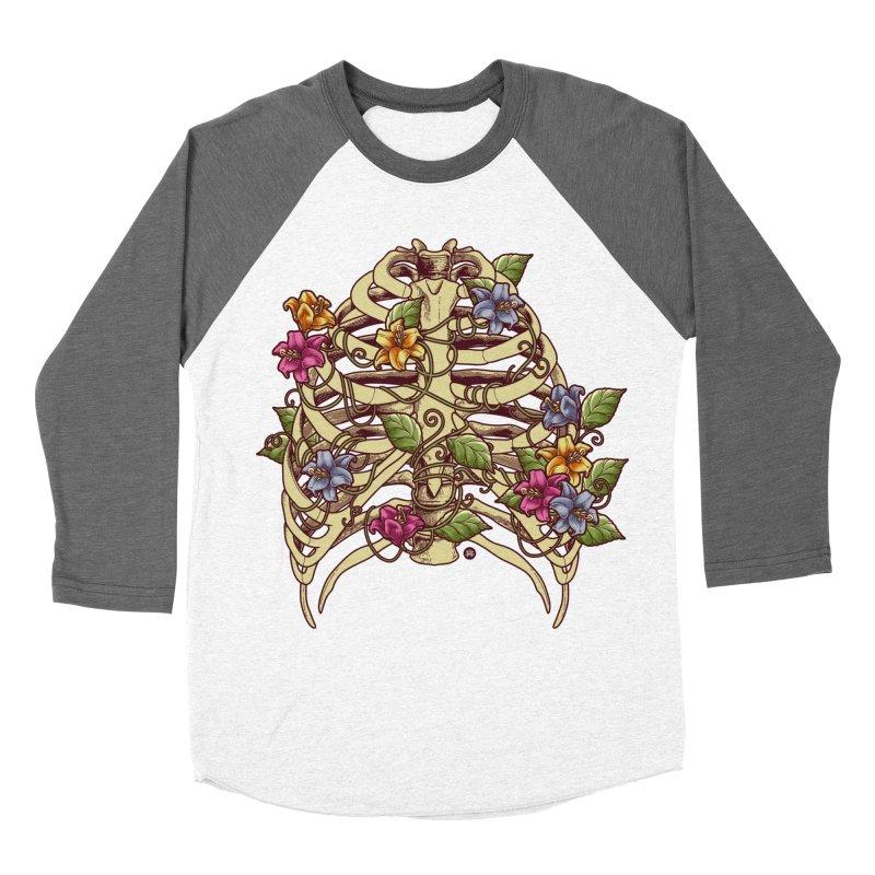 Rib Blossom Men's Baseball Triblend Longsleeve T-Shirt by angoes25's Artist Shop