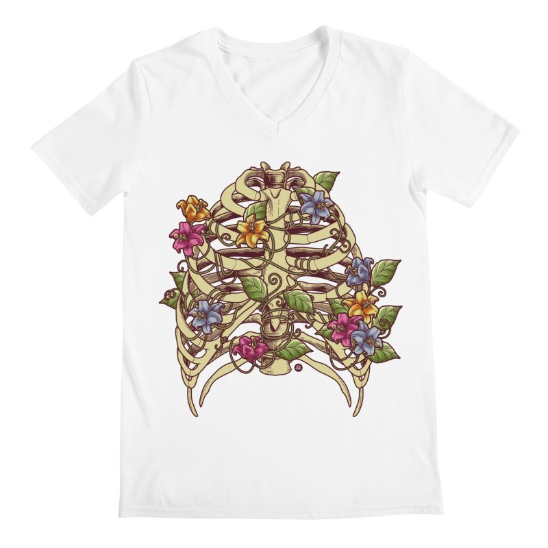 Rib Blossom Men's V-Neck by angoes25's Artist Shop