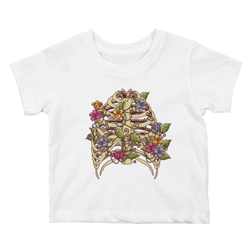 Rib Blossom Kids Baby T-Shirt by angoes25's Artist Shop