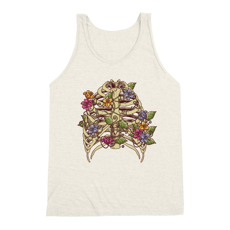 Rib Blossom Men's Triblend Tank by angoes25's Artist Shop