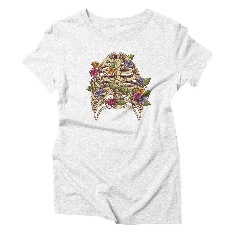 Rib Blossom Women's Triblend T-shirt by angoes25's Artist Shop