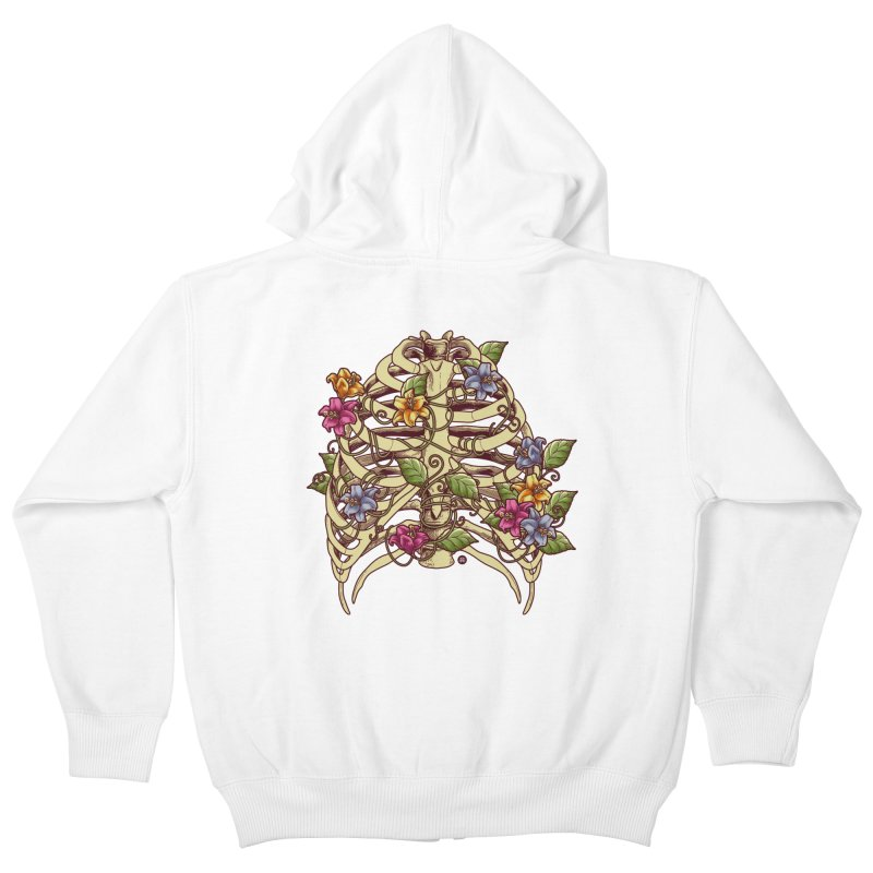 Rib Blossom Kids Zip-Up Hoody by angoes25's Artist Shop