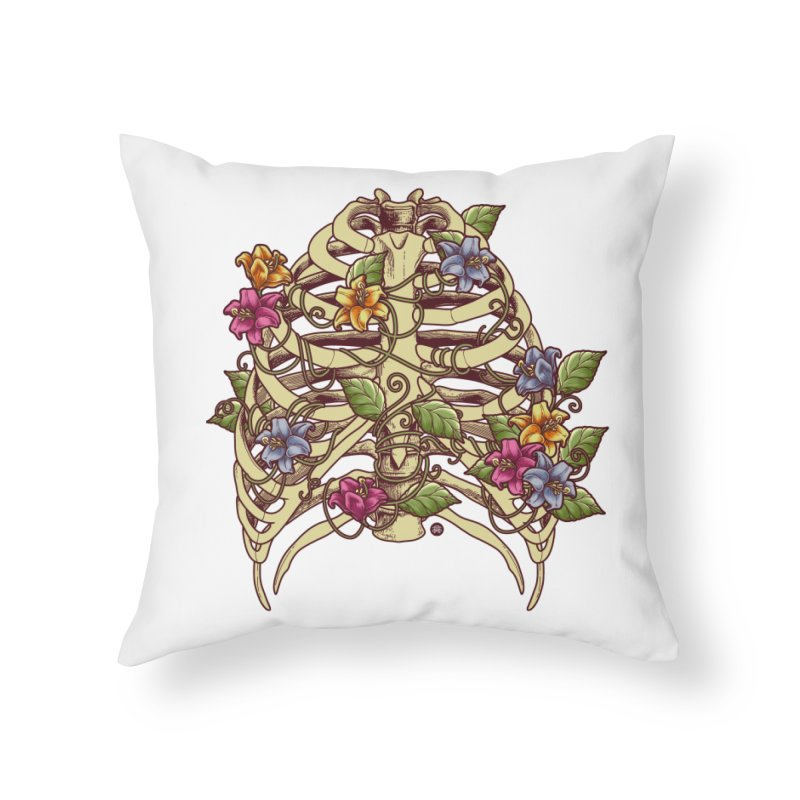 Rib Blossom Home Throw Pillow by angoes25's Artist Shop