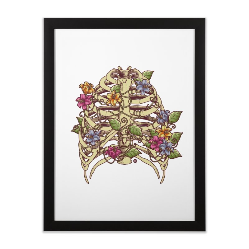 Rib Blossom Home Framed Fine Art Print by angoes25's Artist Shop