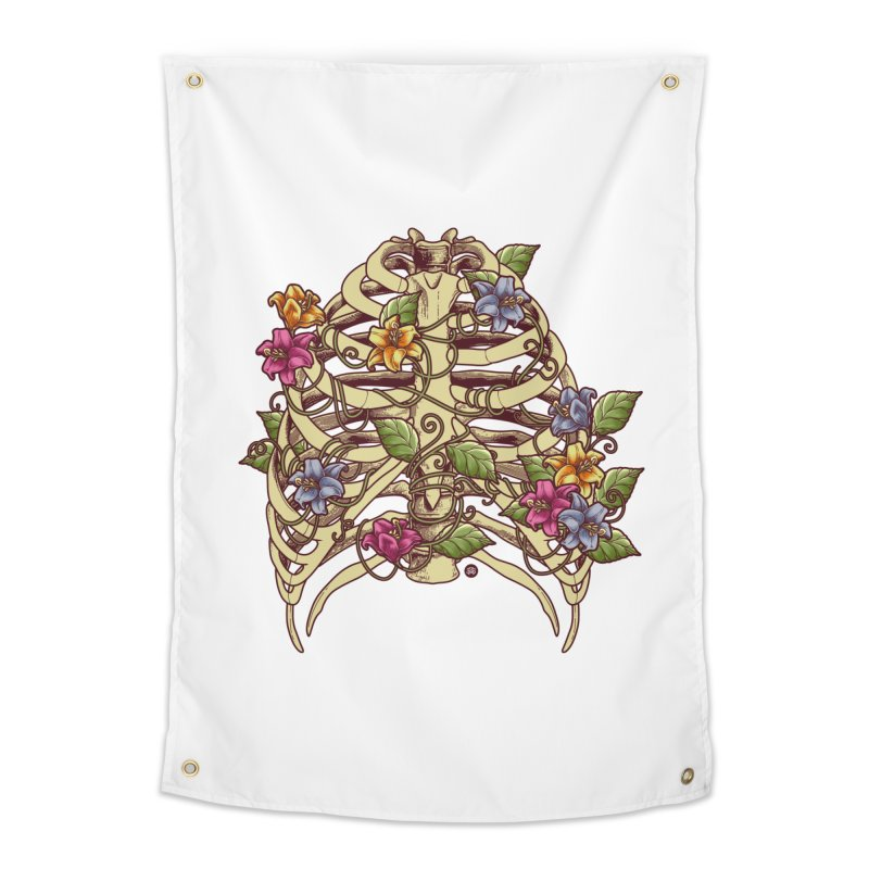 Rib Blossom Home Tapestry by angoes25's Artist Shop