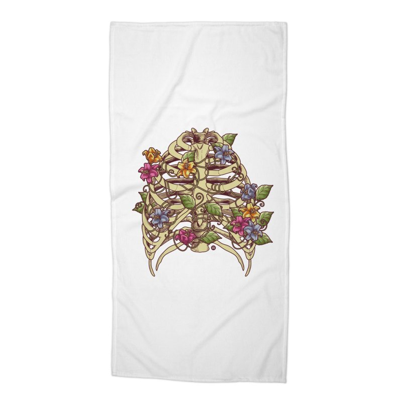 Rib Blossom Accessories Beach Towel by angoes25's Artist Shop