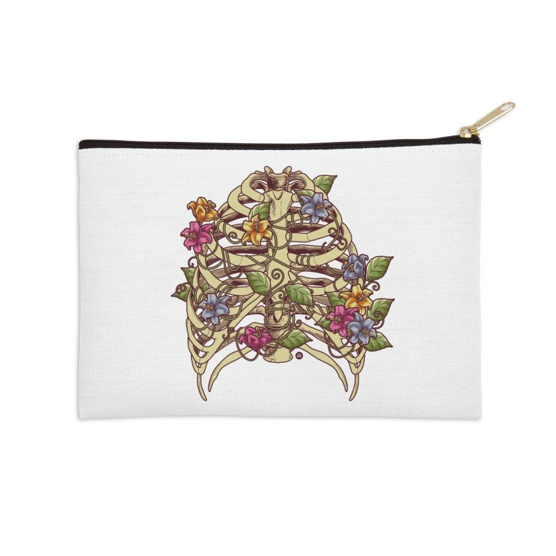 Rib Blossom Accessories Zip Pouch by angoes25's Artist Shop