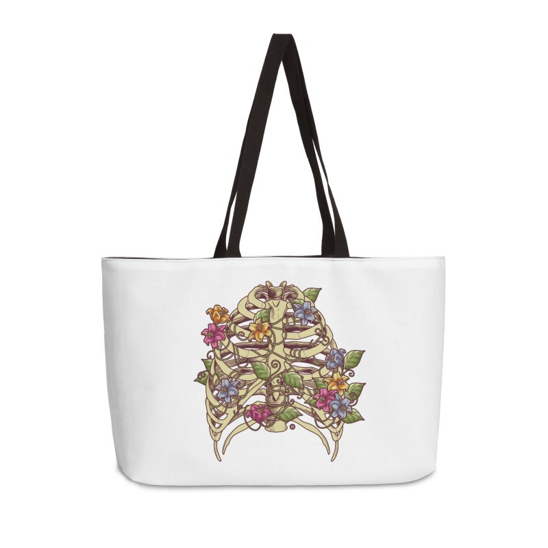 Rib Blossom Accessories Weekender Bag Bag by angoes25's Artist Shop