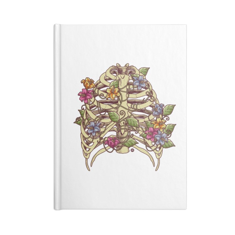 Rib Blossom Accessories Lined Journal Notebook by angoes25's Artist Shop