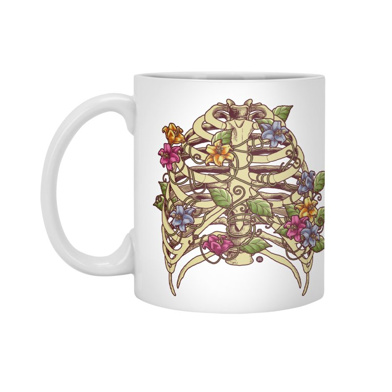 Rib Blossom Accessories Standard Mug by angoes25's Artist Shop