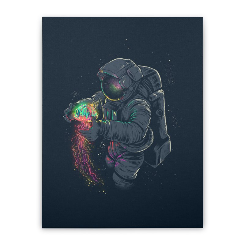 JellySpace Home Stretched Canvas by angoes25's Artist Shop