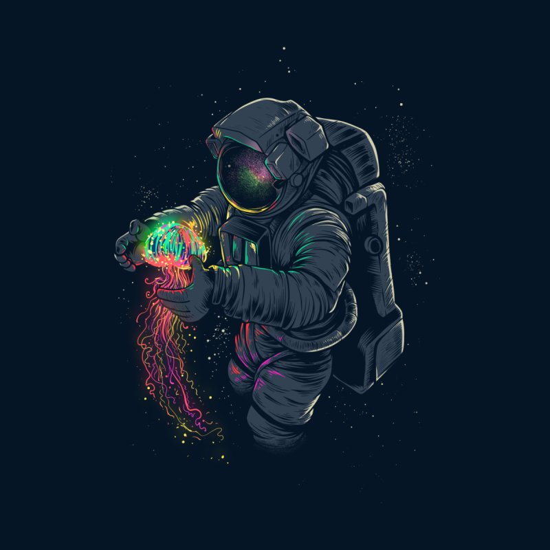 JellySpace Men's Baseball Triblend T-Shirt by angoes25's Artist Shop