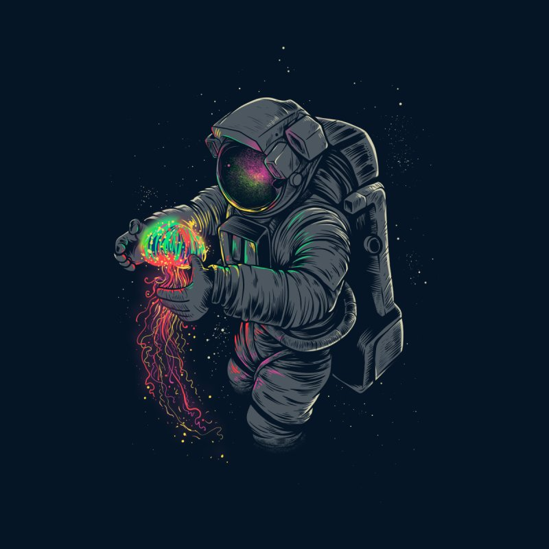 JellySpace Men's T-Shirt by angoes25's Artist Shop