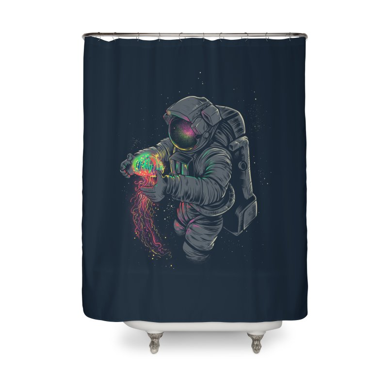 JellySpace Home Shower Curtain by angoes25's Artist Shop