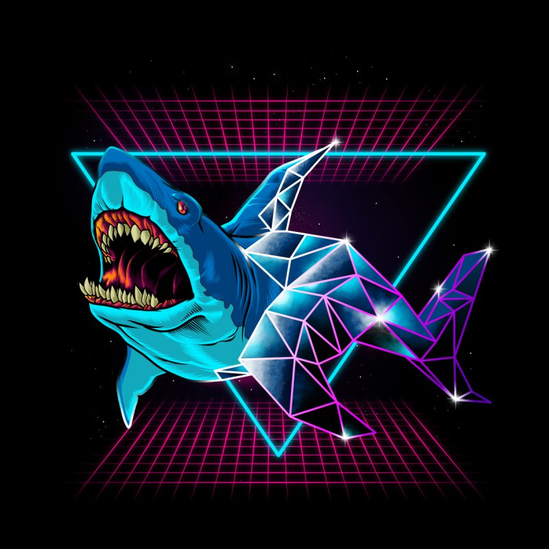 Shark 80's None  by angoes25's Artist Shop
