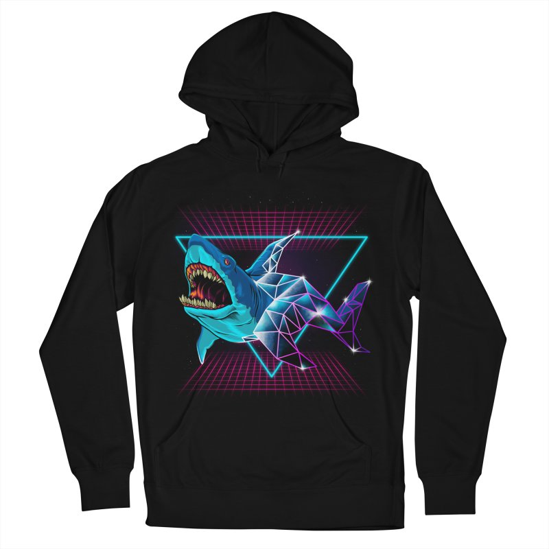 Shark 80's Men's French Terry Pullover Hoody by angoes25's Artist Shop