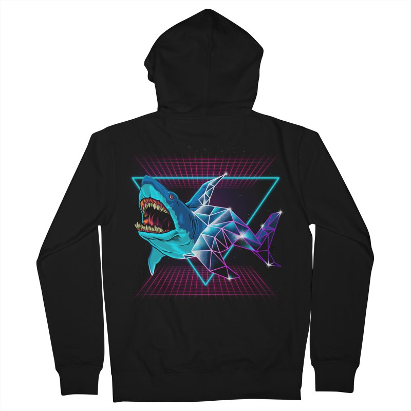 Shark 80's Men's French Terry Zip-Up Hoody by angoes25's Artist Shop