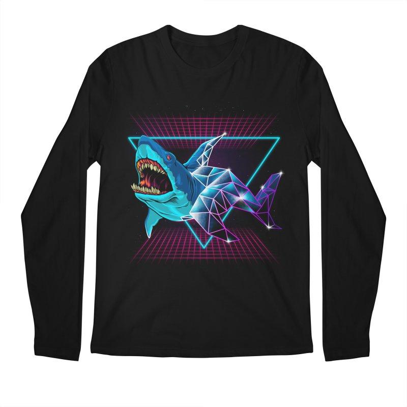 Shark 80's Men's Longsleeve T-Shirt by angoes25's Artist Shop