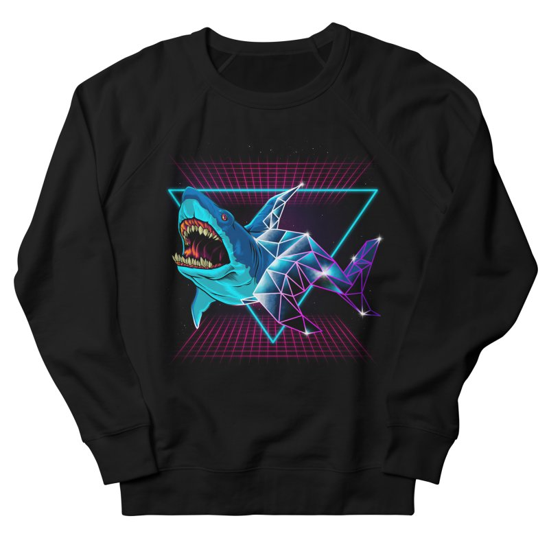Shark 80's Men's French Terry Sweatshirt by angoes25's Artist Shop