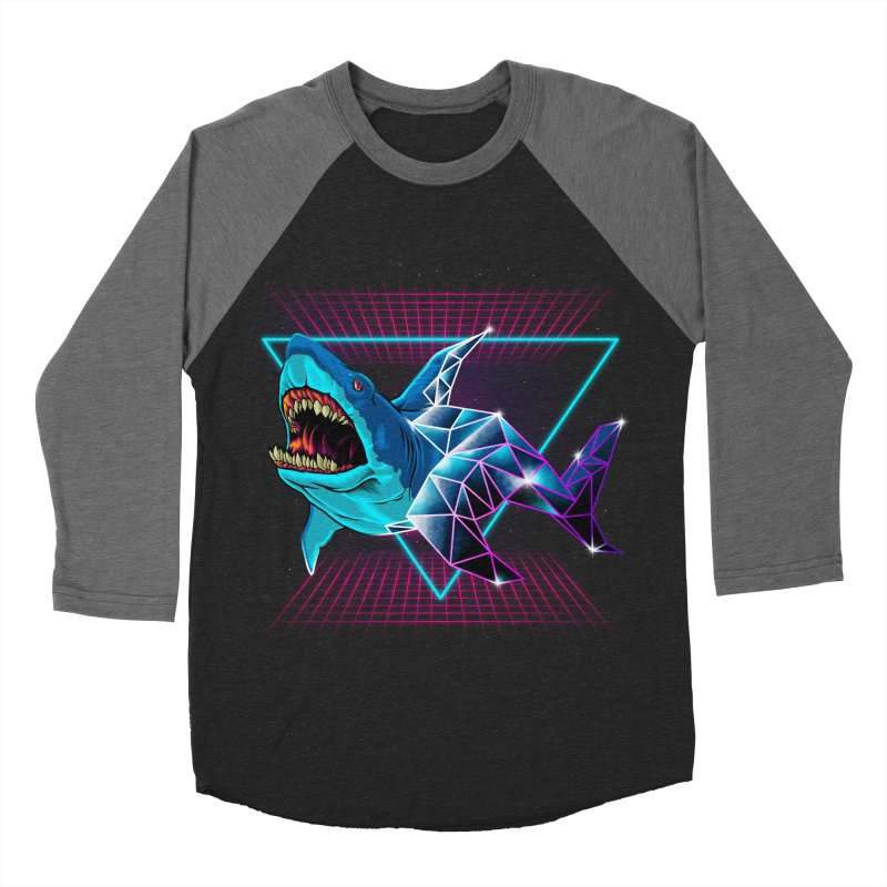 Shark 80's Men's Baseball Triblend T-Shirt by angoes25's Artist Shop