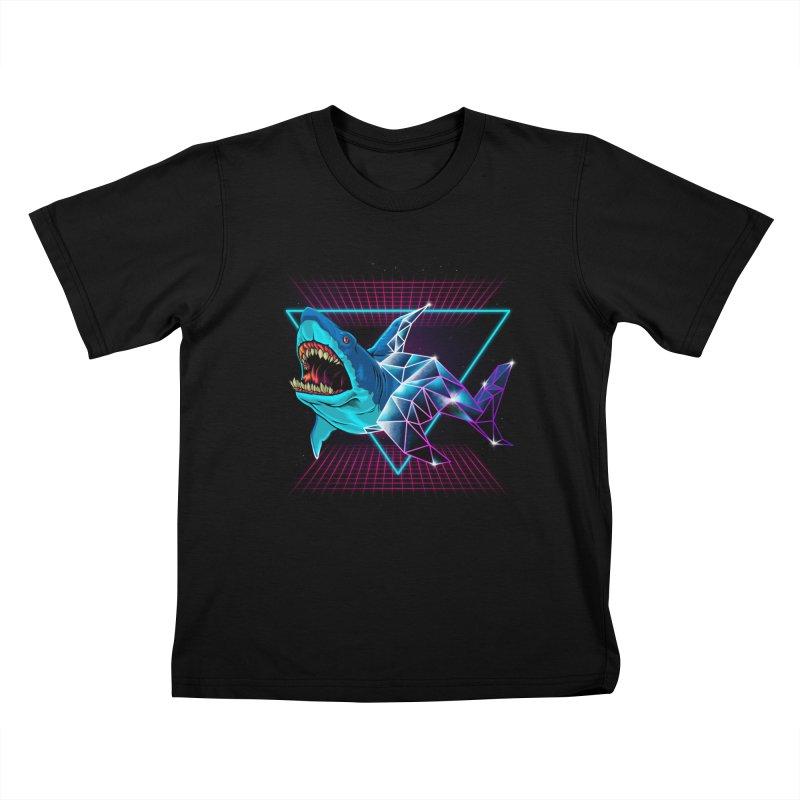 Shark 80's Kids T-Shirt by angoes25's Artist Shop