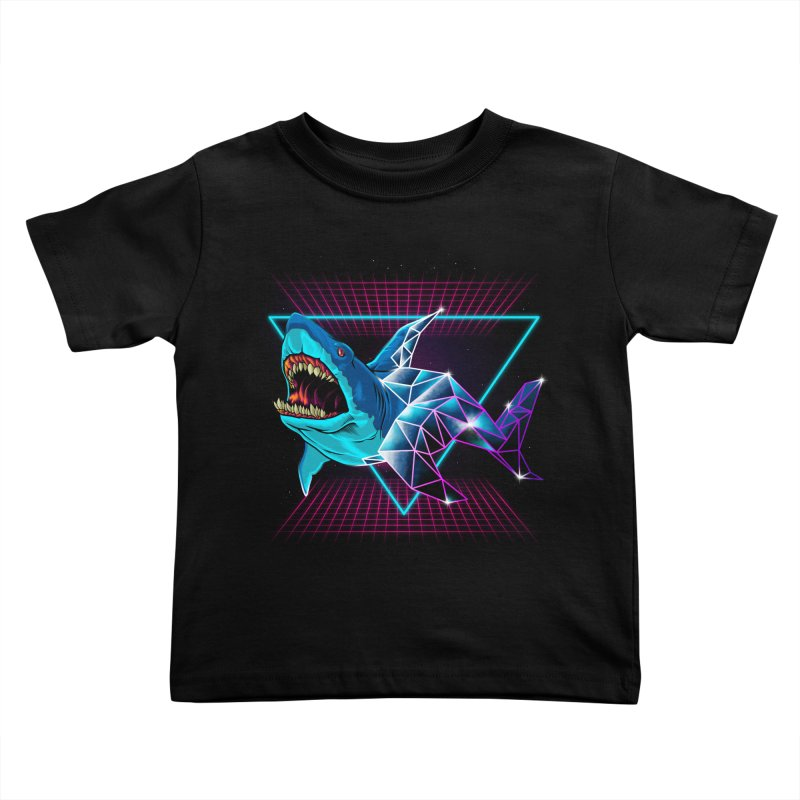 Shark 80's Kids Toddler T-Shirt by angoes25's Artist Shop