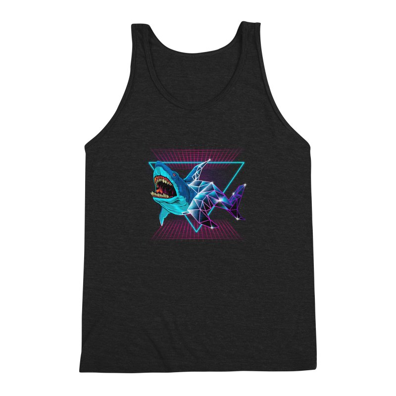 Shark 80's Men's Triblend Tank by angoes25's Artist Shop
