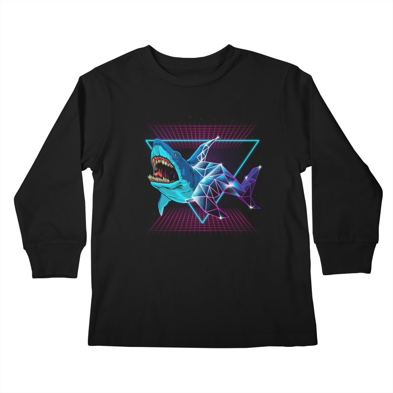 Shark 80's Kids Longsleeve T-Shirt by angoes25's Artist Shop
