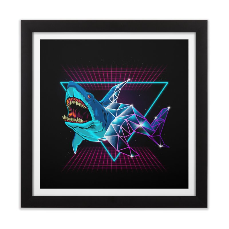 Shark 80's Home Framed Fine Art Print by angoes25's Artist Shop