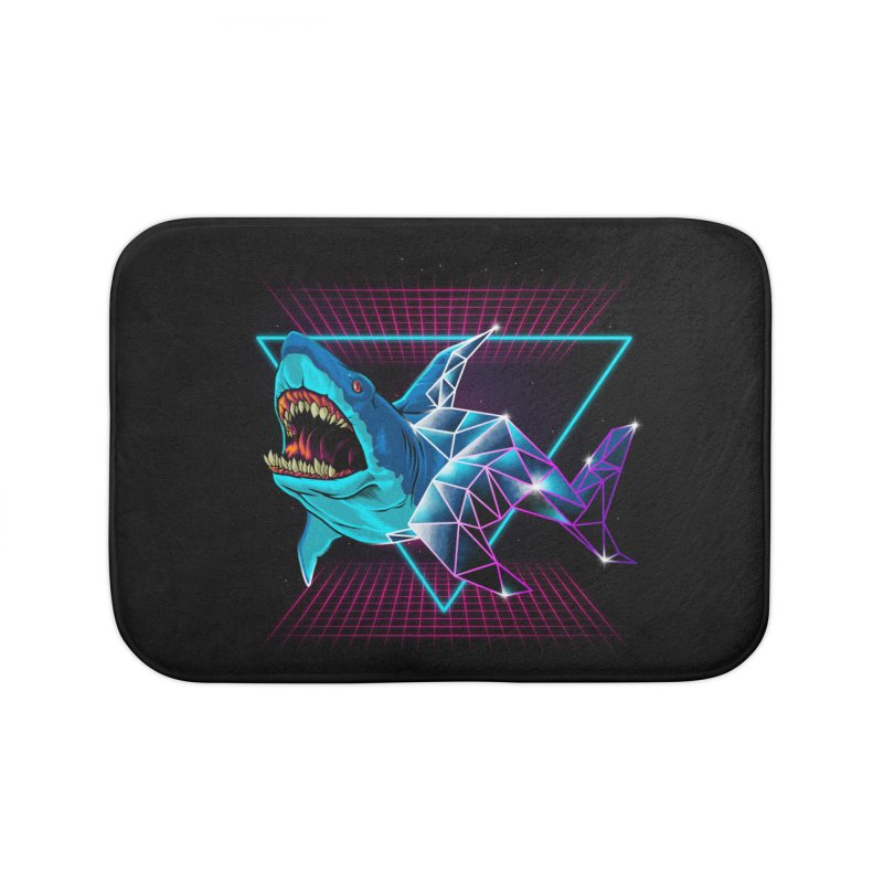 Shark 80's Home Bath Mat by angoes25's Artist Shop