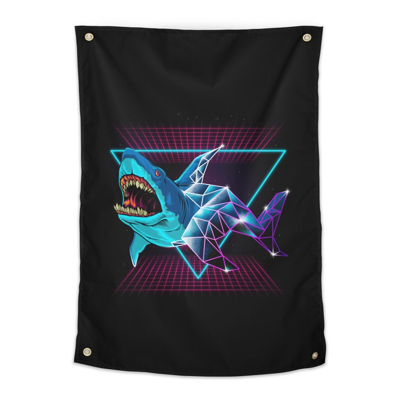 Shark 80's Home Tapestry by angoes25's Artist Shop