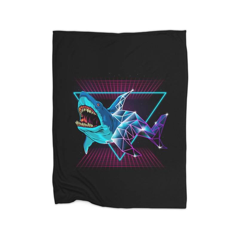 Shark 80's Home Blanket by angoes25's Artist Shop