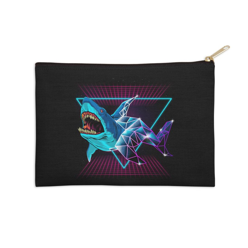 Shark 80's Accessories Zip Pouch by angoes25's Artist Shop