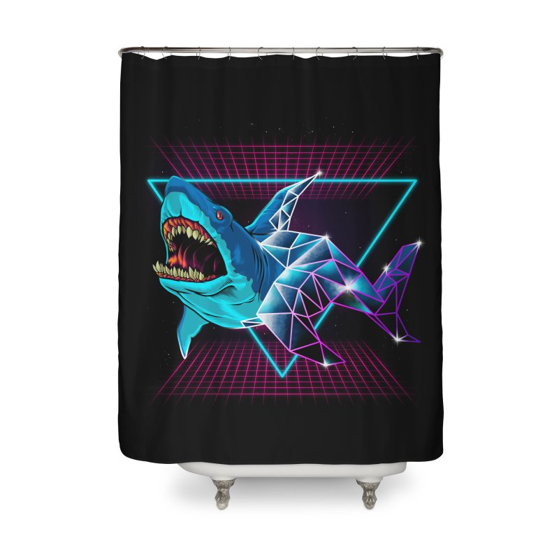 Shark 80's Home Shower Curtain by angoes25's Artist Shop