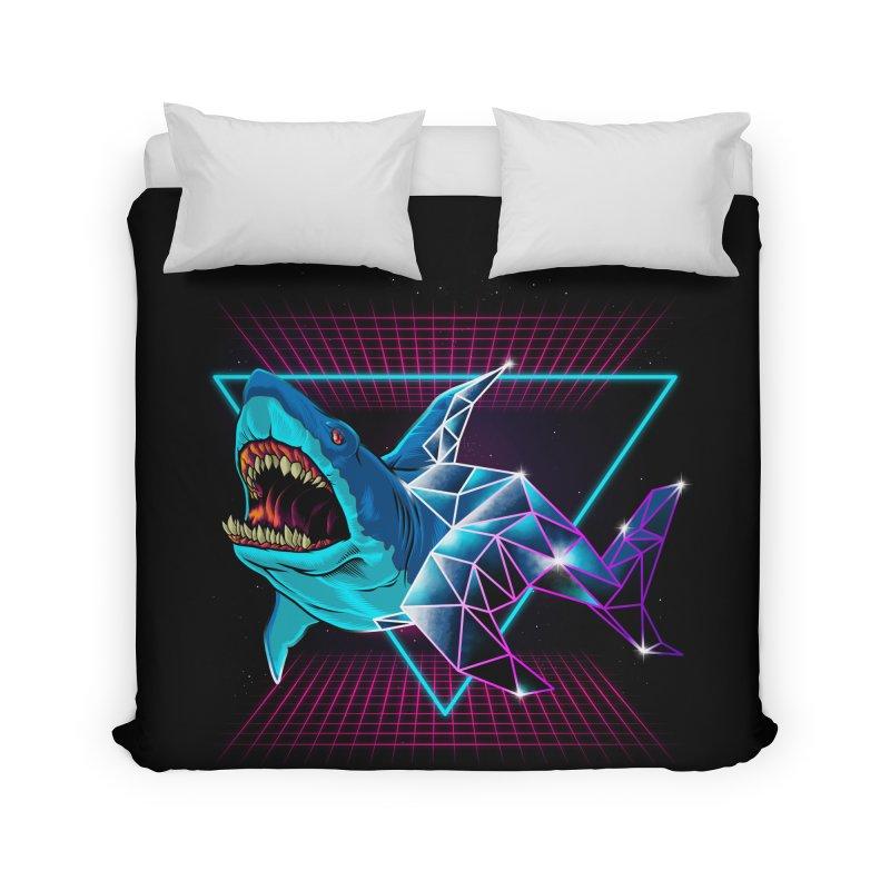 Shark 80's Home Duvet by angoes25's Artist Shop