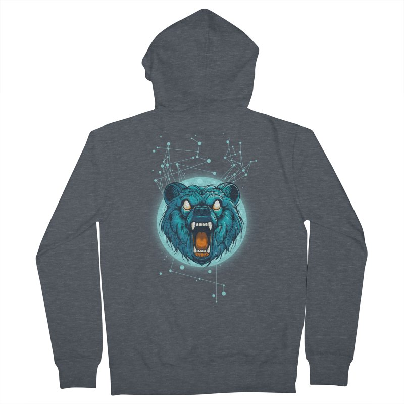 Bear Men's French Terry Zip-Up Hoody by angoes25's Artist Shop