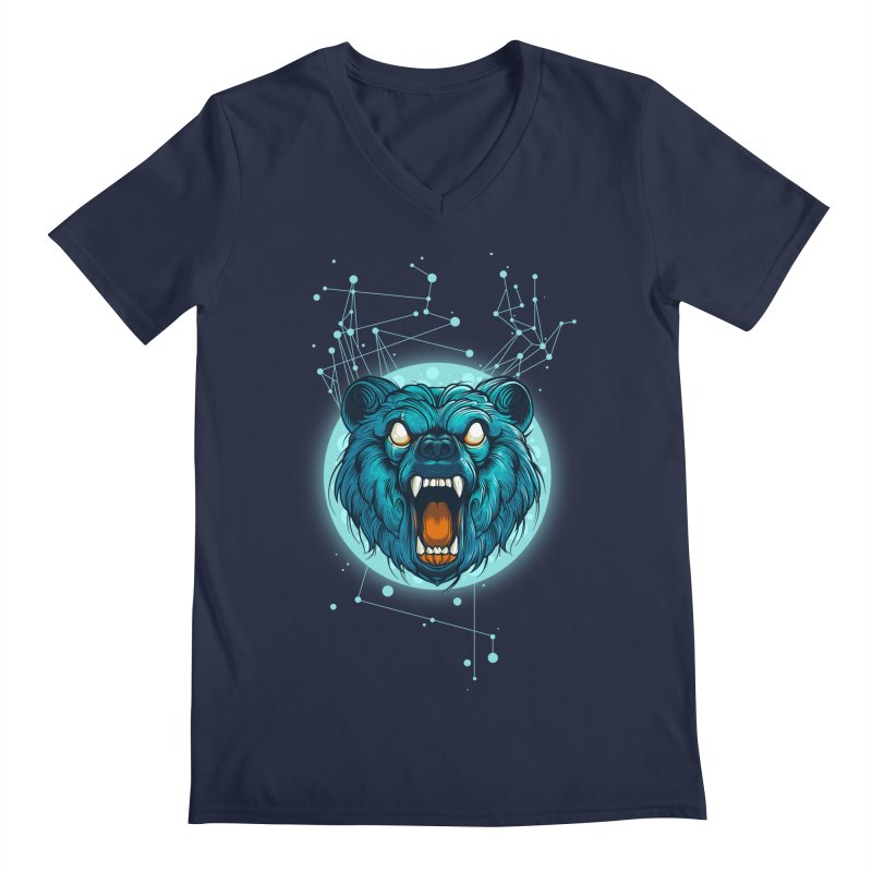 Bear Men's Regular V-Neck by angoes25's Artist Shop