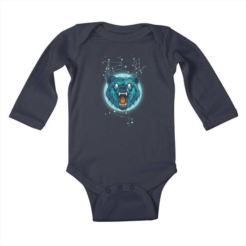 Bear Kids Baby Longsleeve Bodysuit by angoes25's Artist Shop