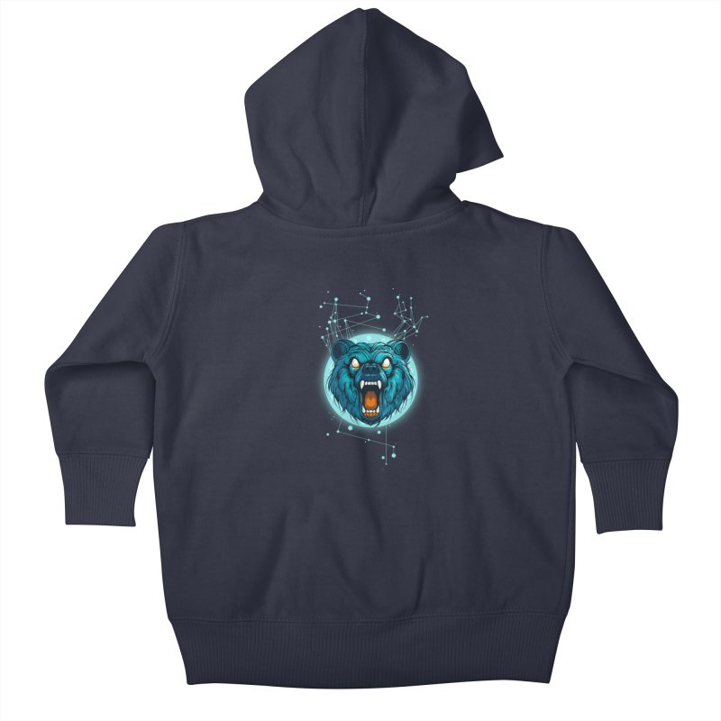 Bear Kids Baby Zip-Up Hoody by angoes25's Artist Shop