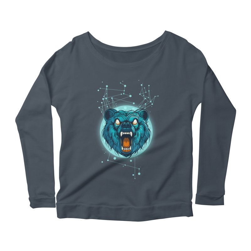 Bear Women's Longsleeve Scoopneck  by angoes25's Artist Shop