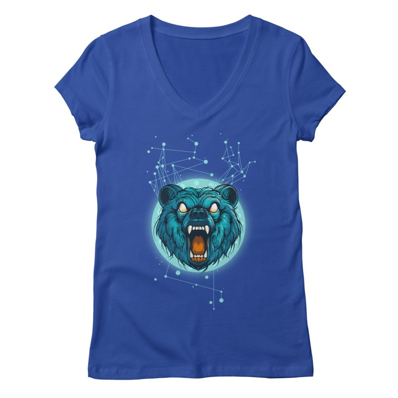 Bear Women's V-Neck by angoes25's Artist Shop