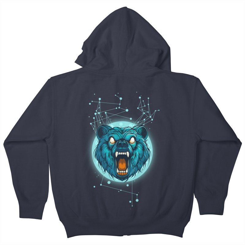 Bear Kids Zip-Up Hoody by angoes25's Artist Shop